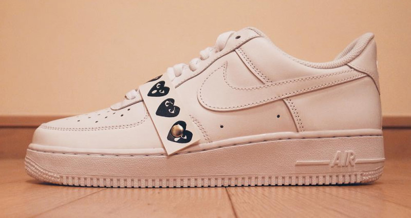 on sale b6c9f 094ec COMME des GARÇONS Debuts Custom Nike Air Force 1 Low at Art ...
