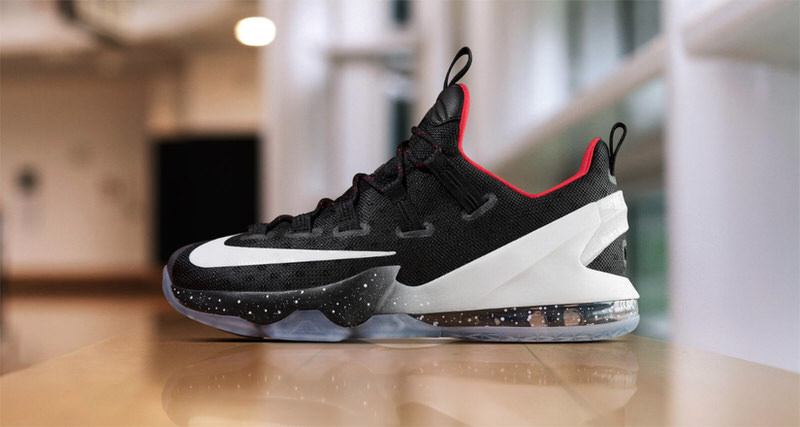 dd39e13cd51 LeBron 13 Elite PE Black Silver Basketball Shoes