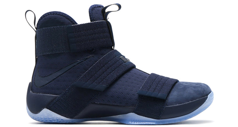 0b20027274bbe Nike LeBron Soldier 10 Suede Toe Arrives in Midnight Navy