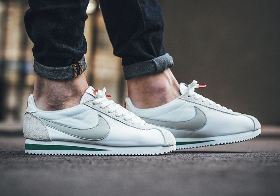 online store 89499 af068 Nike Classic Cortez Nylon Premium. Colorway  Ivory Pale Grey-Pine Green  Style    876873-100. Nike Cortez