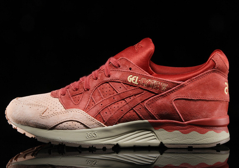 competitive price 08f29 e2caa asics gel lyte v all red