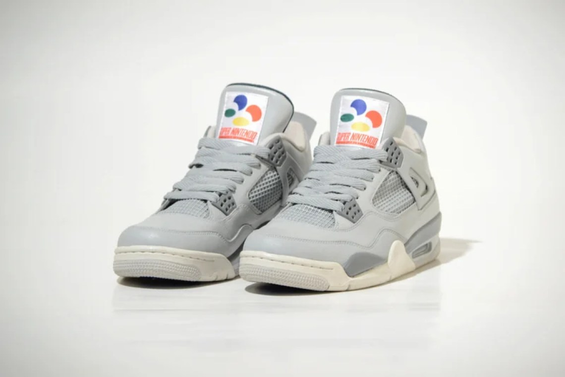 "Air Jordan 4 ""Super Nintendo"" Custom by Freaker Sneaks"