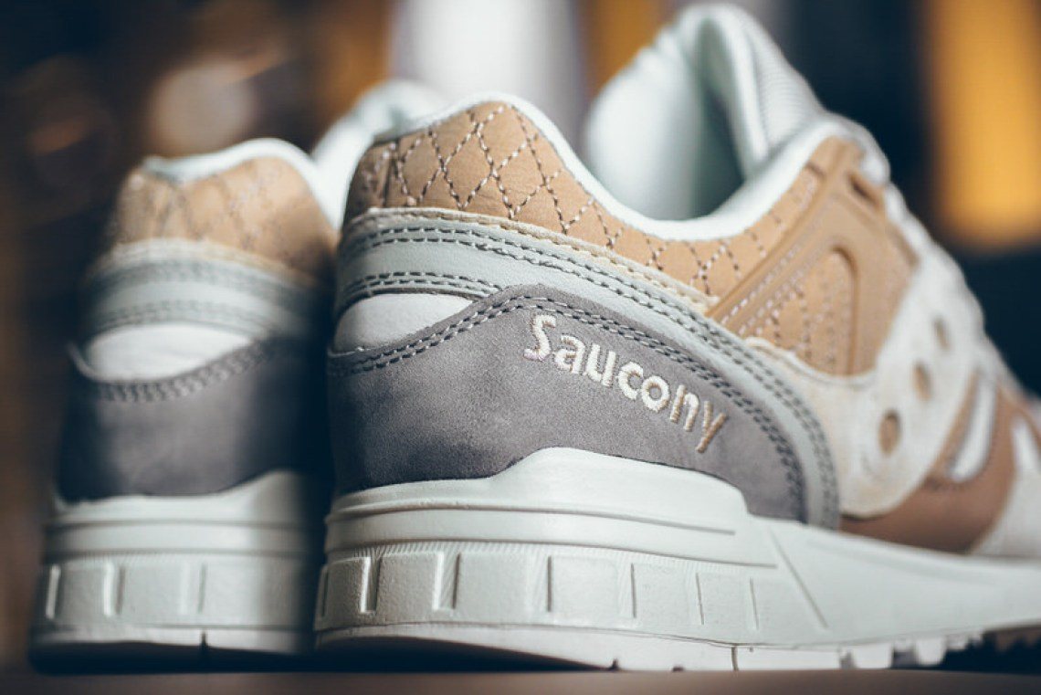 Saucony Grid SD Quilted Tan/Grey