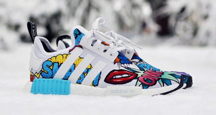 "adidas NMD_R1 ""Pop Art"" Custom by Kendra's Customs"