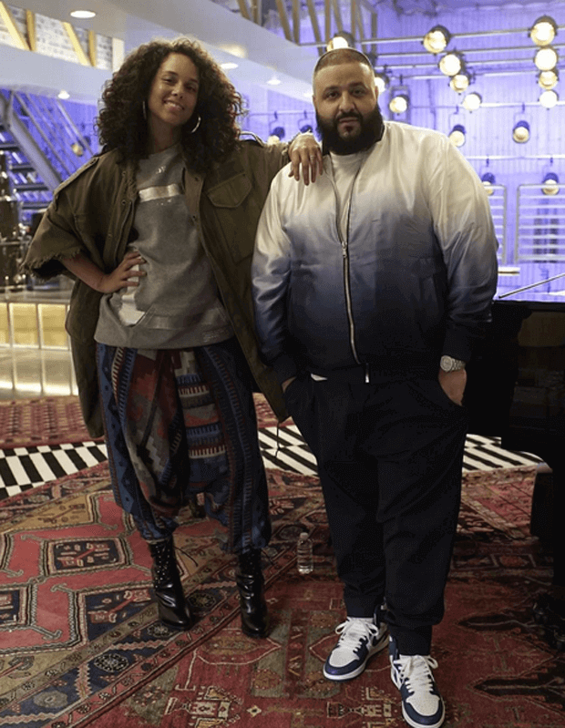 "DJ Khaled in the Air Jordan 1 ""Storm Blue"""