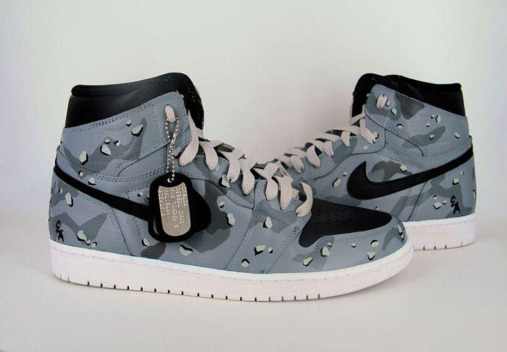 "Air Jordan 1 ""Grey Desert Camo"" Custom by Ecentrik Artistry d411171e5e"