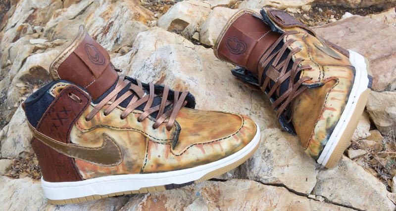 "Nike SB Dunk High ""Spilt Whiskey"" Custom by Kickink Customs & Bespoke IND"