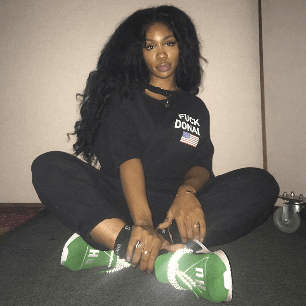 SZA in the Pharrell x adidas NMD