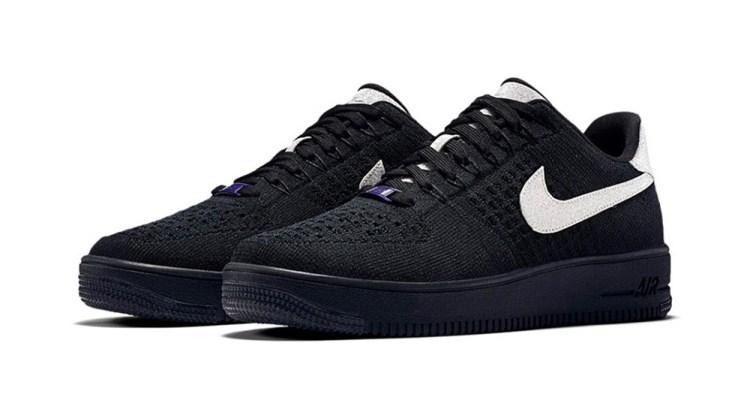 online store fb61d 58410 Nike Air Force 1 Low Ultra Flyknit Black Metallic