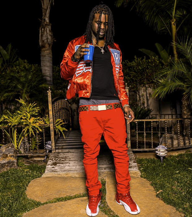 "Chief Keef in the Air Jordan 12 ""Gym Red"""