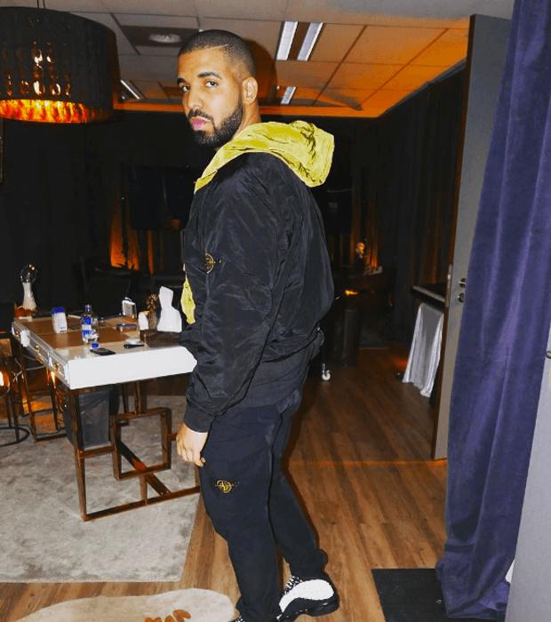 """Drake in the Air Jordan 13 """"Black Cat"""""""