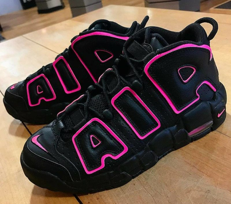 Nike Air More Uptempo GS Black/Pink Blast