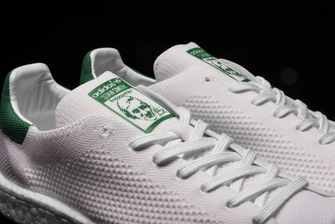 premium selection 8ad15 281af adidas Stan Smith Boost Primeknit White/Green // Available ...