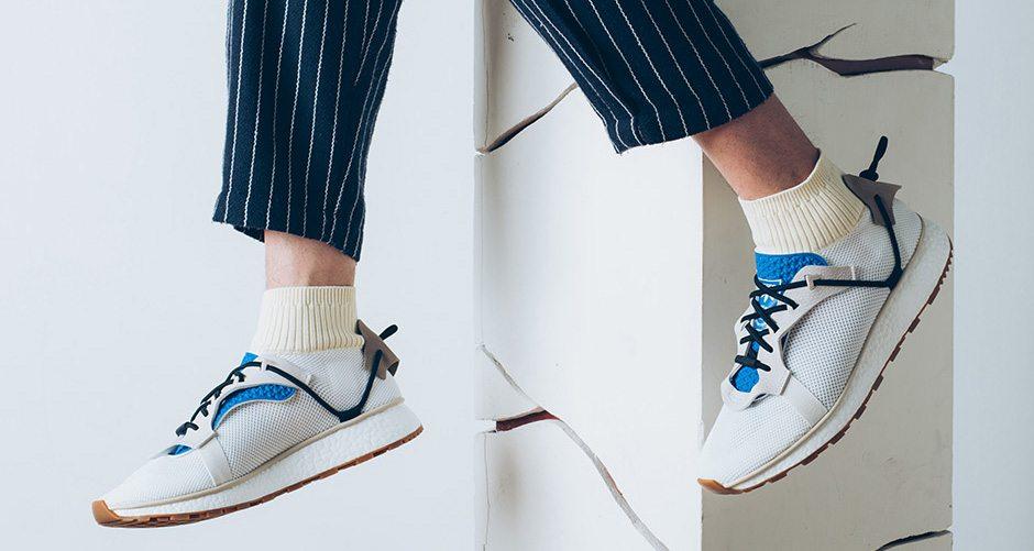 2017 NEW Adidas X Alexander Wang Run Clean Boost White