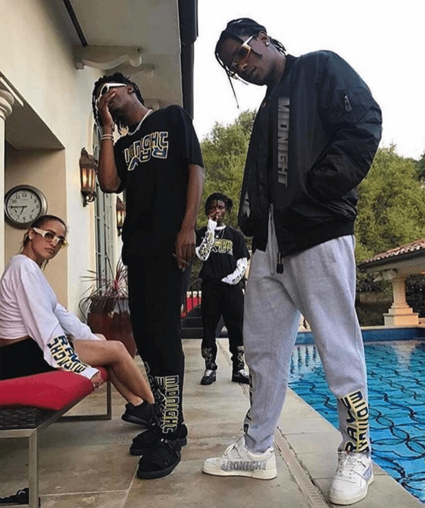 "aa41be5646e489 Playboi Carti in the Air Jordan 1 ""Reverse Shattered Backboard"" Playboi  Carti in Suicoke Sandals ..."