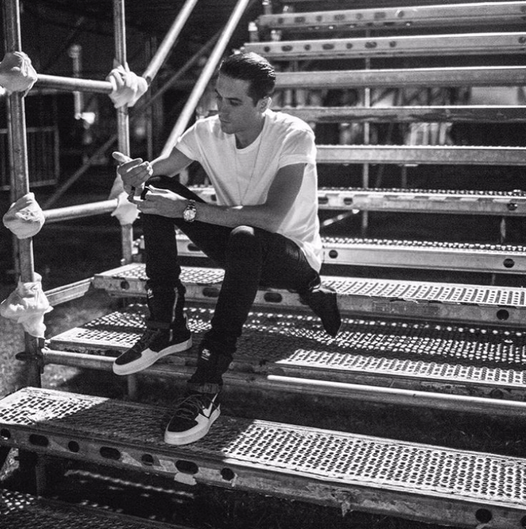G-Eazy in the Nikelab x Acronym Air Force Downtown High