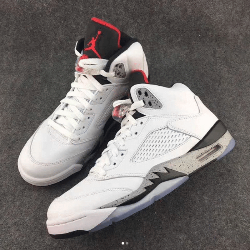a7c9a7bda28 Take a First Look at the Air Jordan 5 White Cement