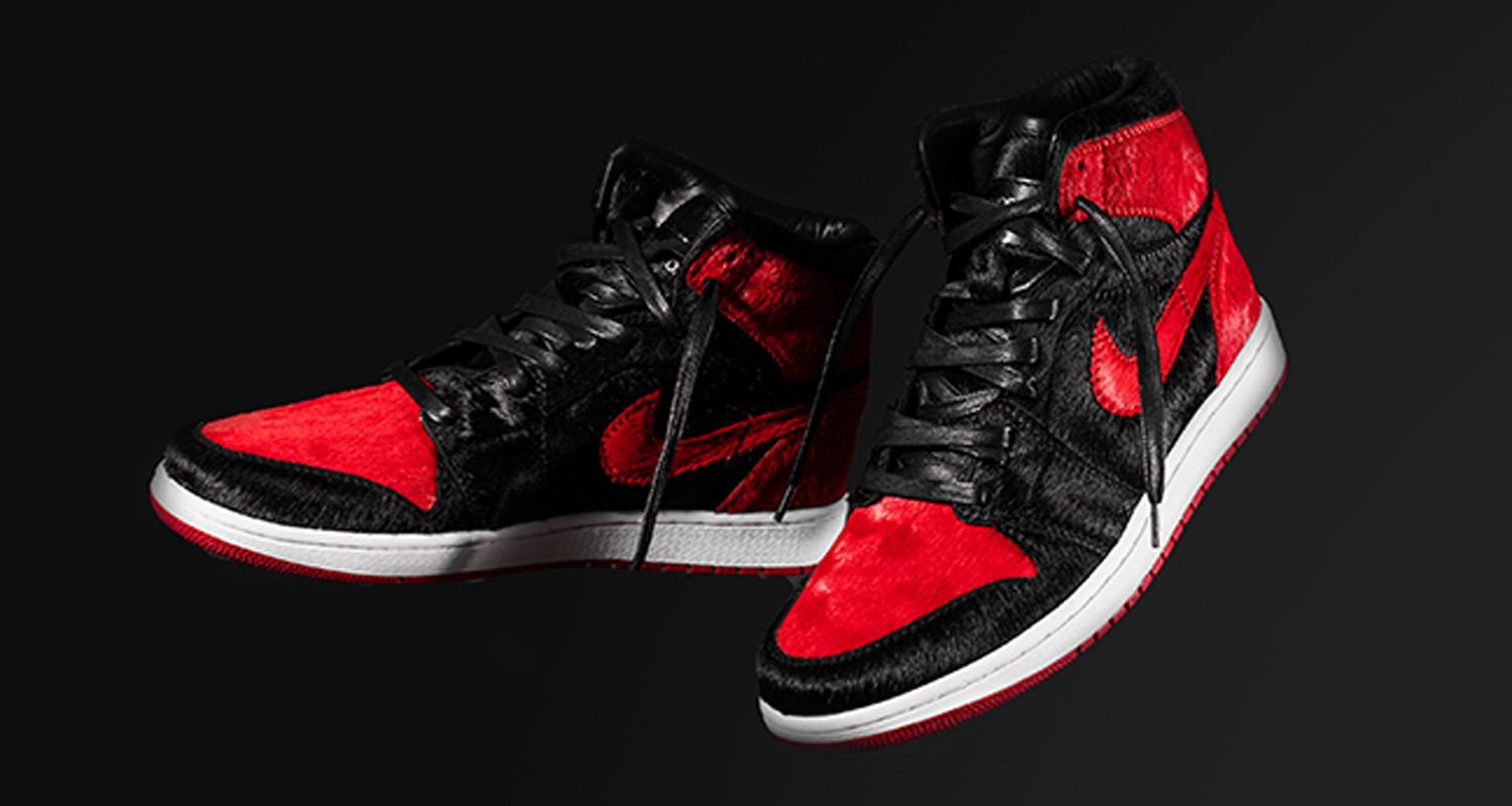 Air Jordan 1 Banned Pony Hair Custom by The Shoe Surgeon