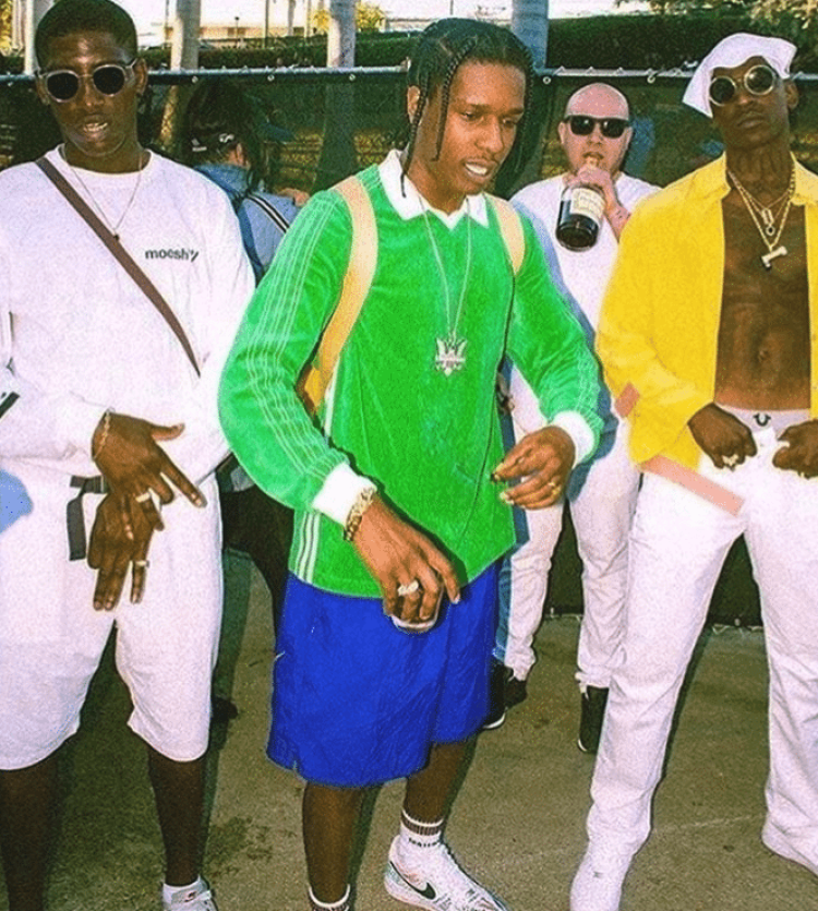 """ASAP Rocky in the Nike Air Force 1 Low """"Vlone"""" & Skepta in the Nike Air Force 1 Low"""