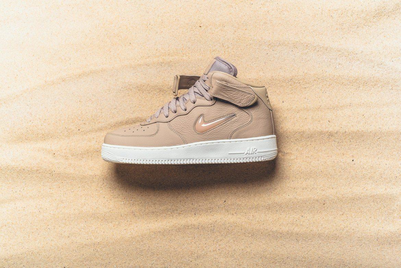 """NikeLab Air Force 1 Mid Jewel """"Mushroom"""""""