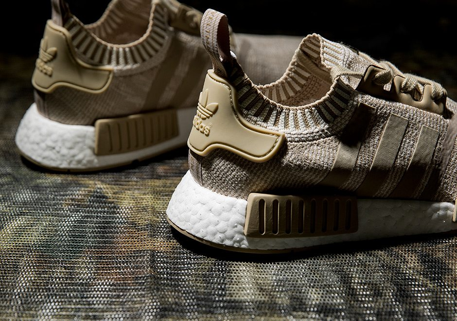 Take A Look At The adidas NMD R1 Primeknit 'Linen Khaki' On Feet