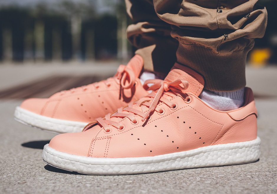 adidas Stan Smith Boost Gets Coated in Pink for Summer  74c78edb24f0f