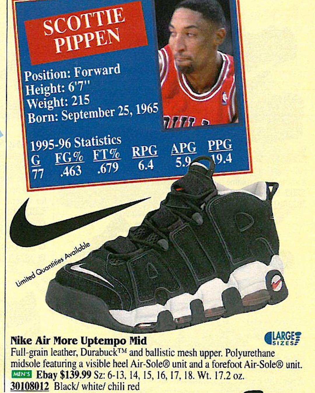 release date beb4d 51bd6 photo via Flight Club Nike Air More Uptempo Black White-Chile Red