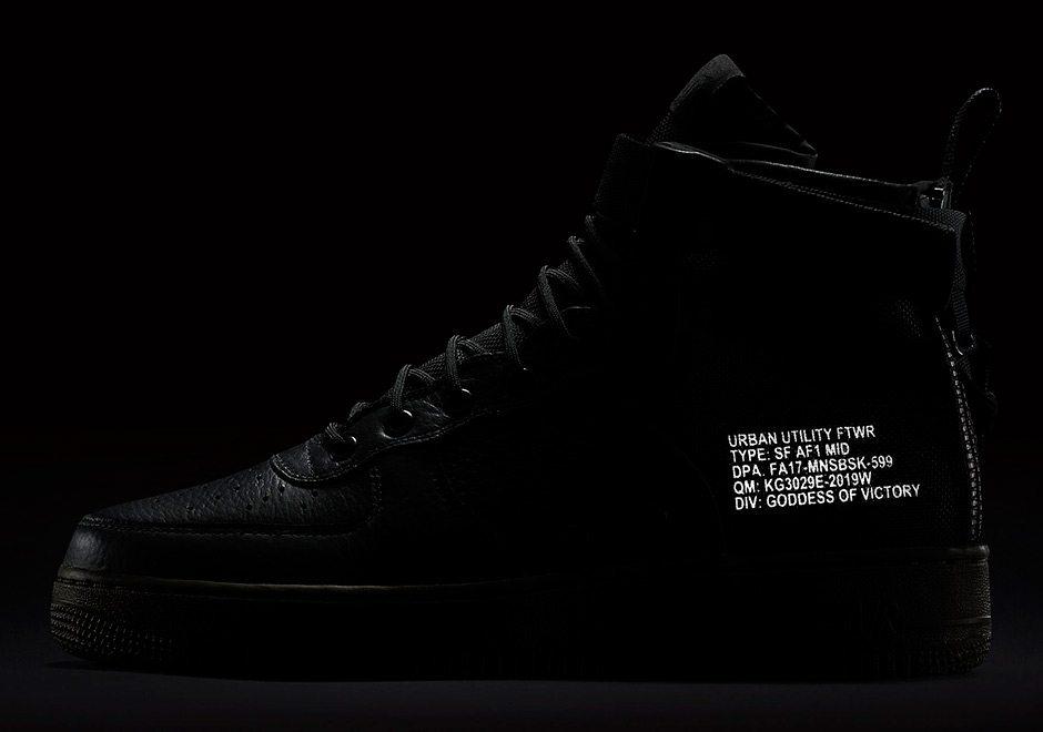 Nike SF-AF1 Mid Black/Cargo Khaki