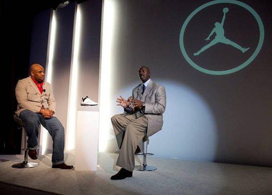 Jason Mayden & Michael Jordan discussing the Air Jordan 2009 (designed by Mayden)