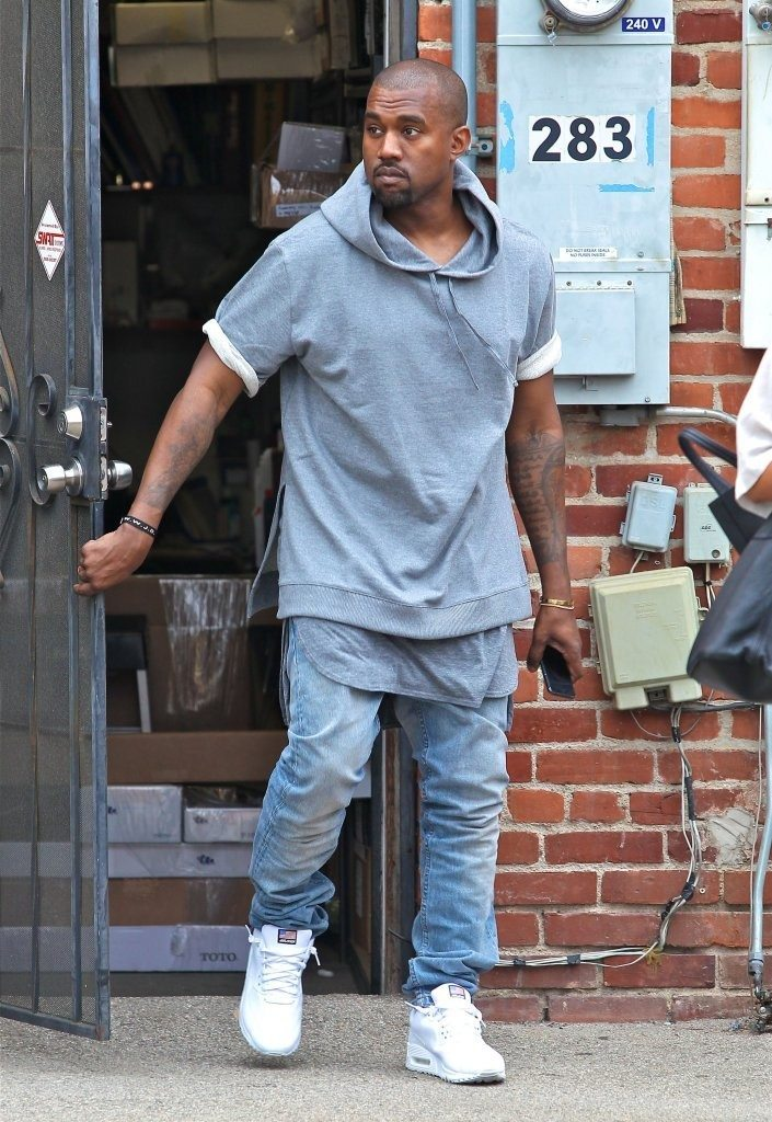 "Kanye West in the Nike Air Max 90 Hyperfuse ""White"""