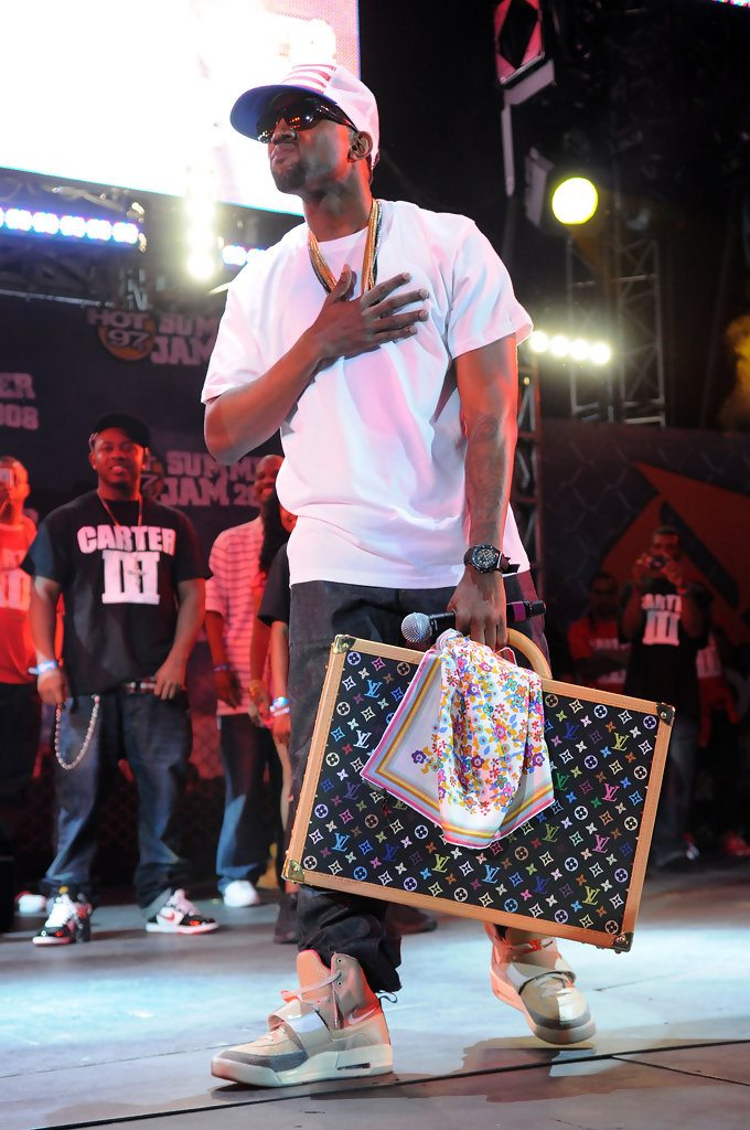 "8ef4131ba1f1b ... Kanye West in the Nike Air Yeezy 1 ""Net"" ..."