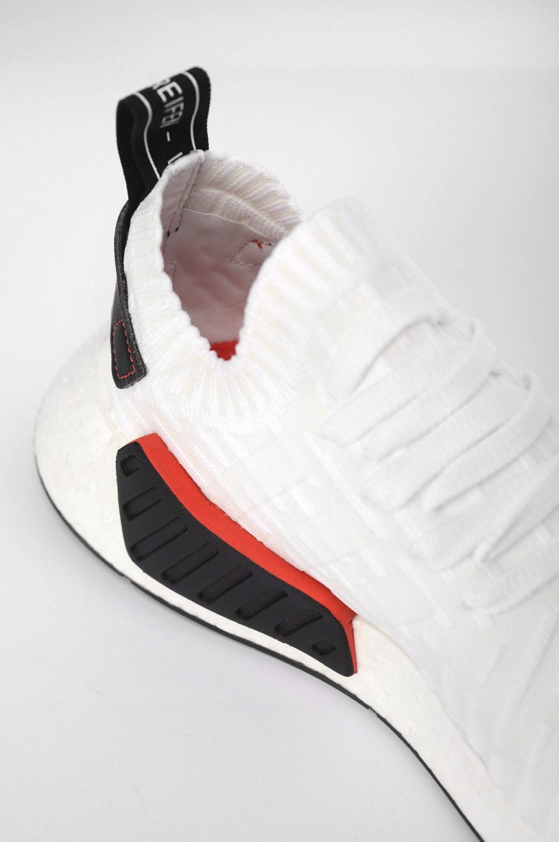 adidas NMD R2 Primeknit White/Black