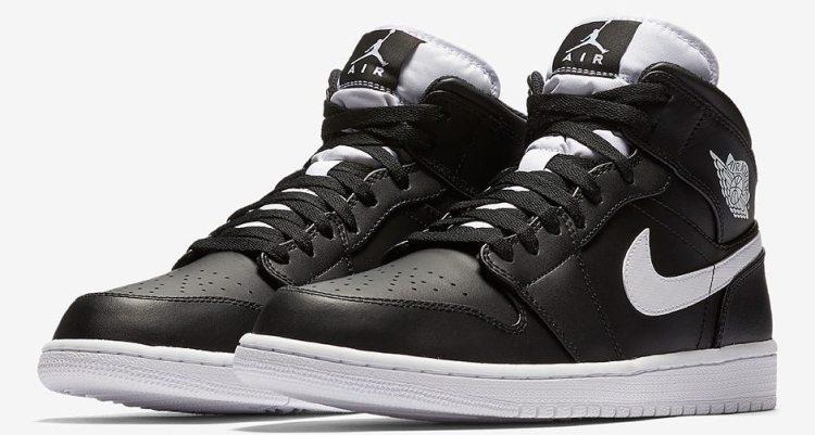 Air Jordan 1 Mid Black/White