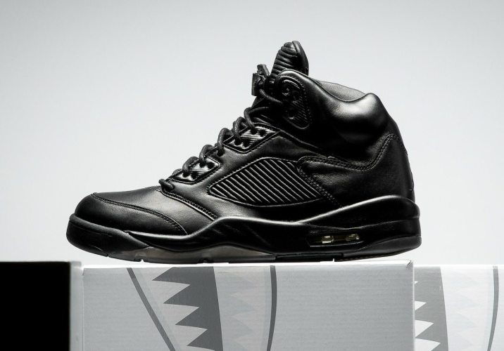 jordan 5 black. air jordan 5 retro premium \u201cblack\u201d black
