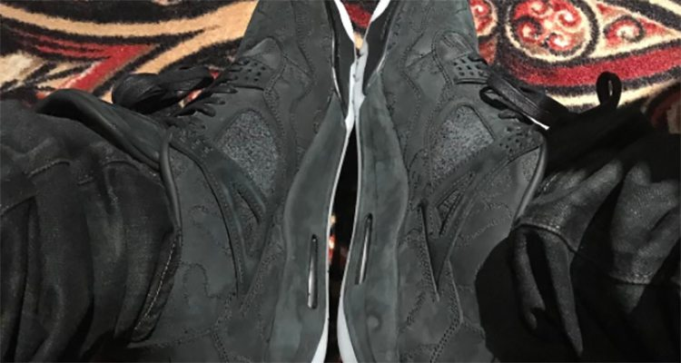 "KAWS x Air Jordan 4 ""Black"""