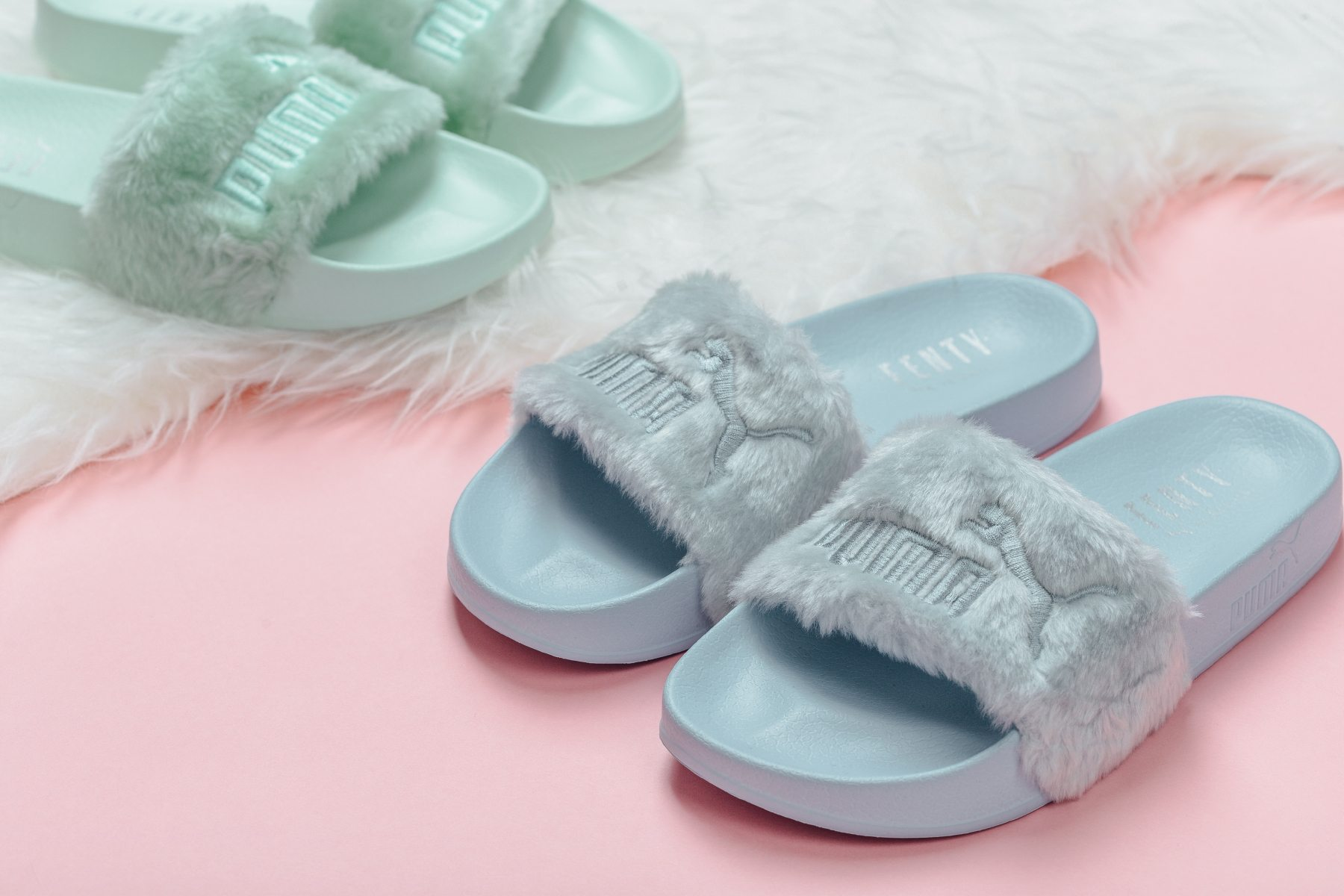 Fenty x PUMA Slides Deliver Cool Tones for the Hottest