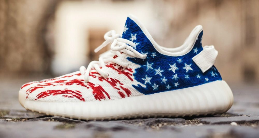 083502dda1f30 Dent Kicks Shows Love to the USA on Latest Yeezy Custom