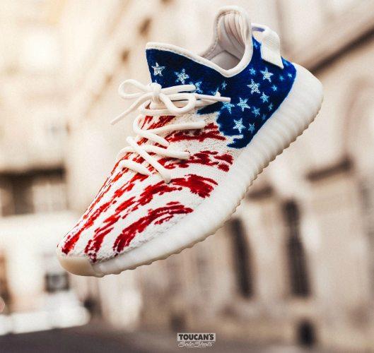 Dent Kicks Shows Love to the USA on Latest Yeezy Custom ...