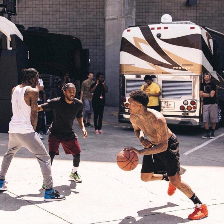 YG in the Air Jordan 5 Retro