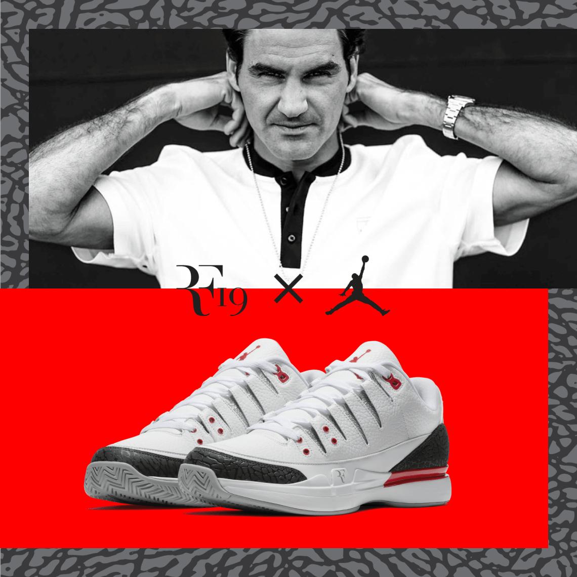 Roger Federer and Nike Debut Zoom Vapor Air Jordan 3