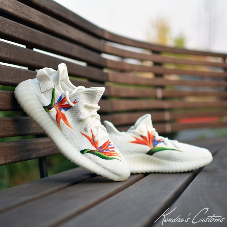"adidas Yeezy 350 V2 ""Birds of Paradise"" Custom by Kendra's Customs"