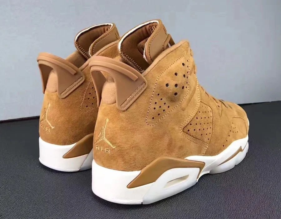 "best sneakers 655f0 94c62 ... RETRO GOLDEN HARVEST WHEAT WHITE 384664 705 SZ 7.5-13 NEW Air Jordan 6 "" Wheat"" ."