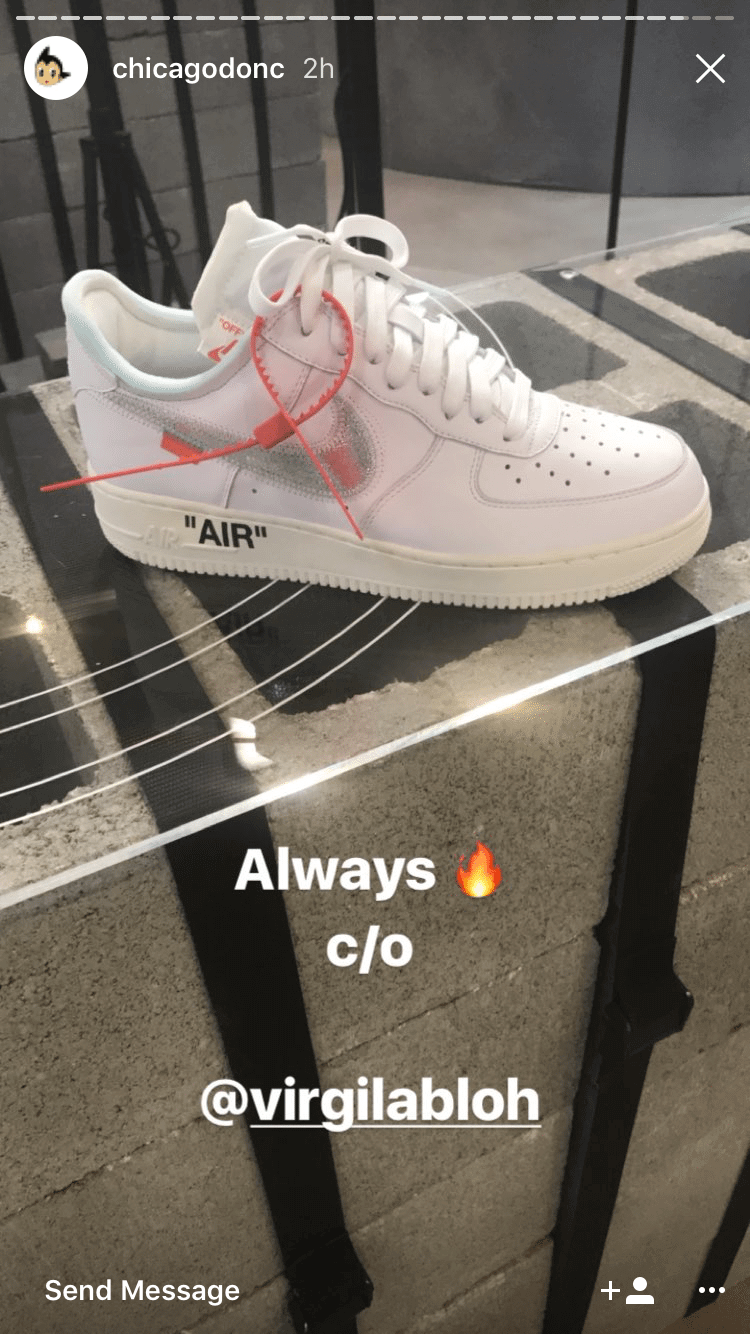 Virgil Abloh and Travis Scott Design Custom Nike Air Force 1