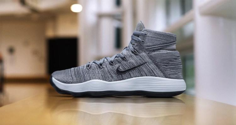 "Nike REACT Hyperdunk 2017 Flyknit ""Grey"""