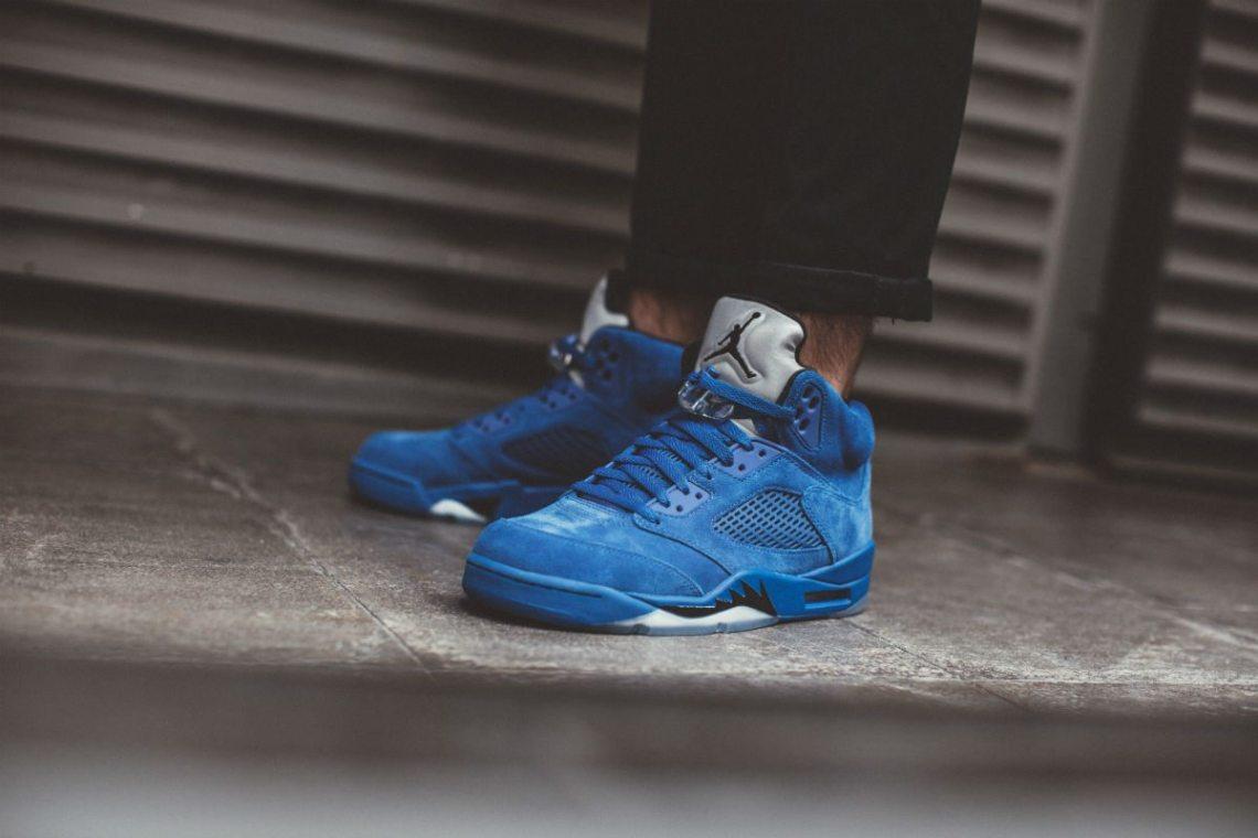 """Air Jordan 5 """"Blue Suede"""""""