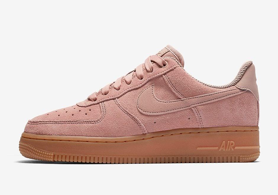 Nike Air Force 1 07 SE Suede AF1 Rose Particle Pink