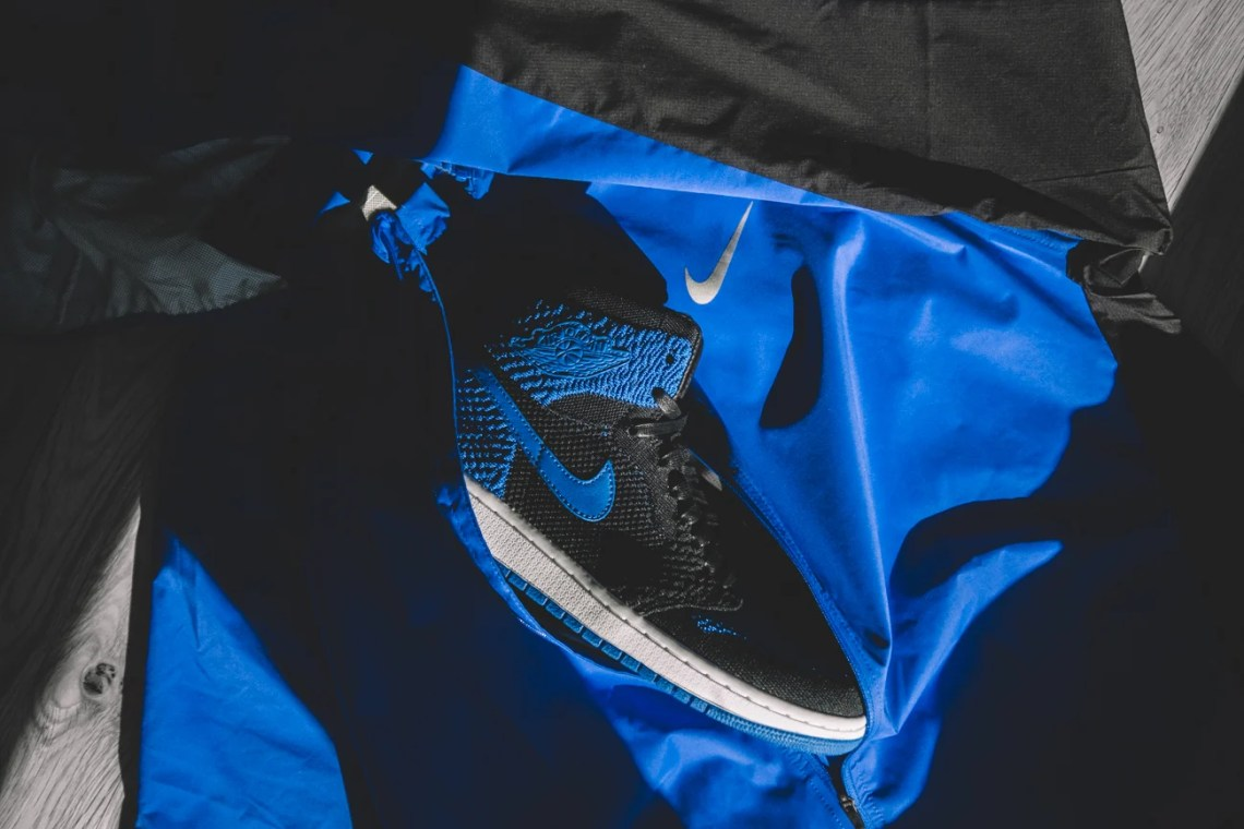 "7594d596b612c5 Grab an exclusive detailed look at the ""Royal"" Air Jordan 1 Flyknit ahead  of its release slated for October 7th retailing for  180."