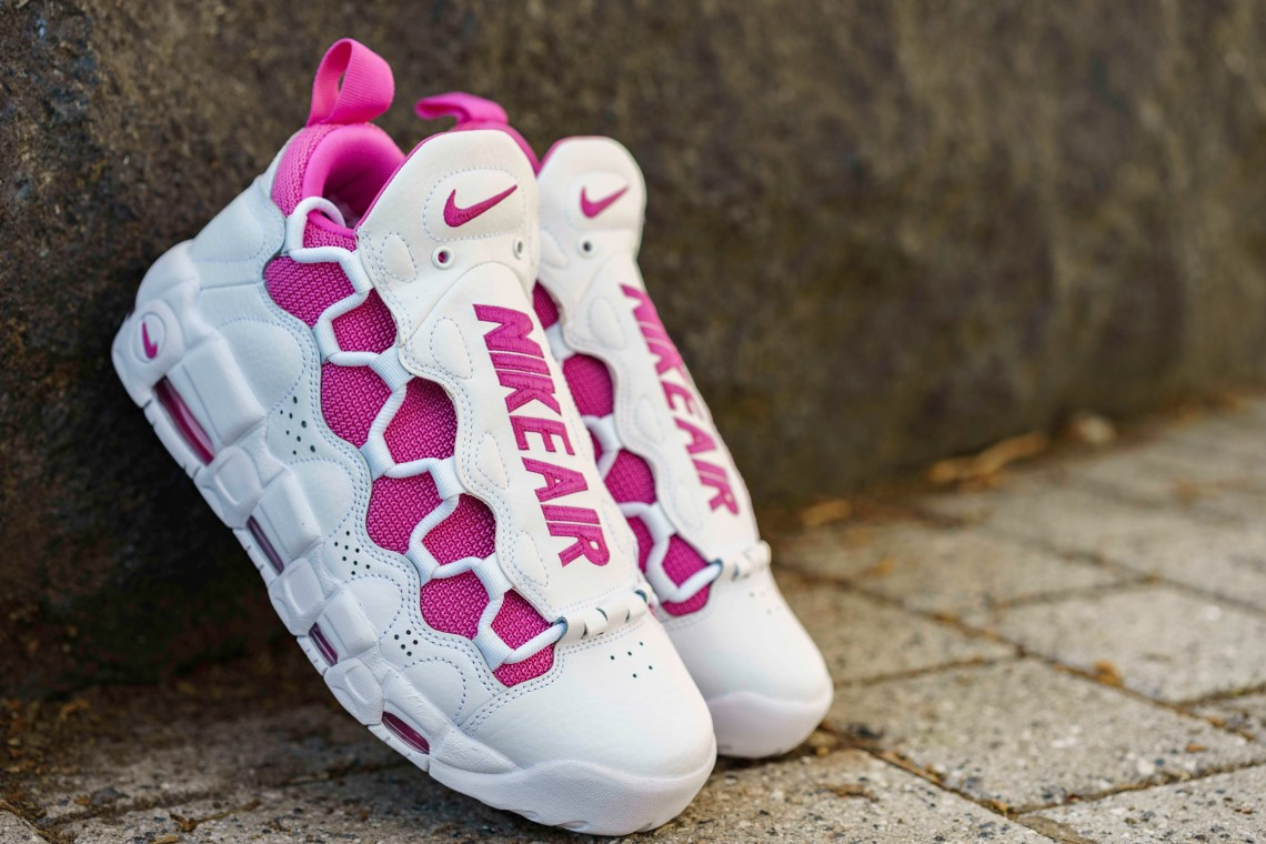 """40b221b29b8 ... Nike Air More Money """"Breast Cancer Awareness"""" White/Pink Flare ..."""