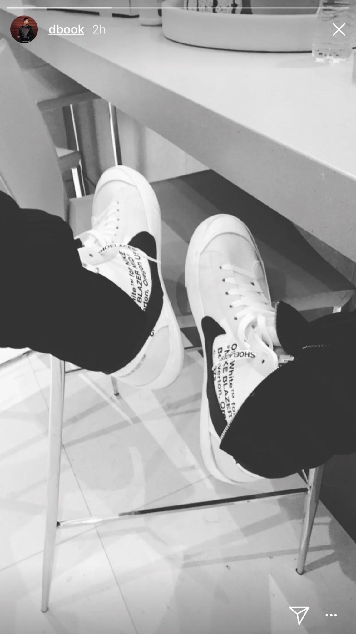 8c72d33d73f0 Off-White x Nike Blazer. Devin Booker  ...