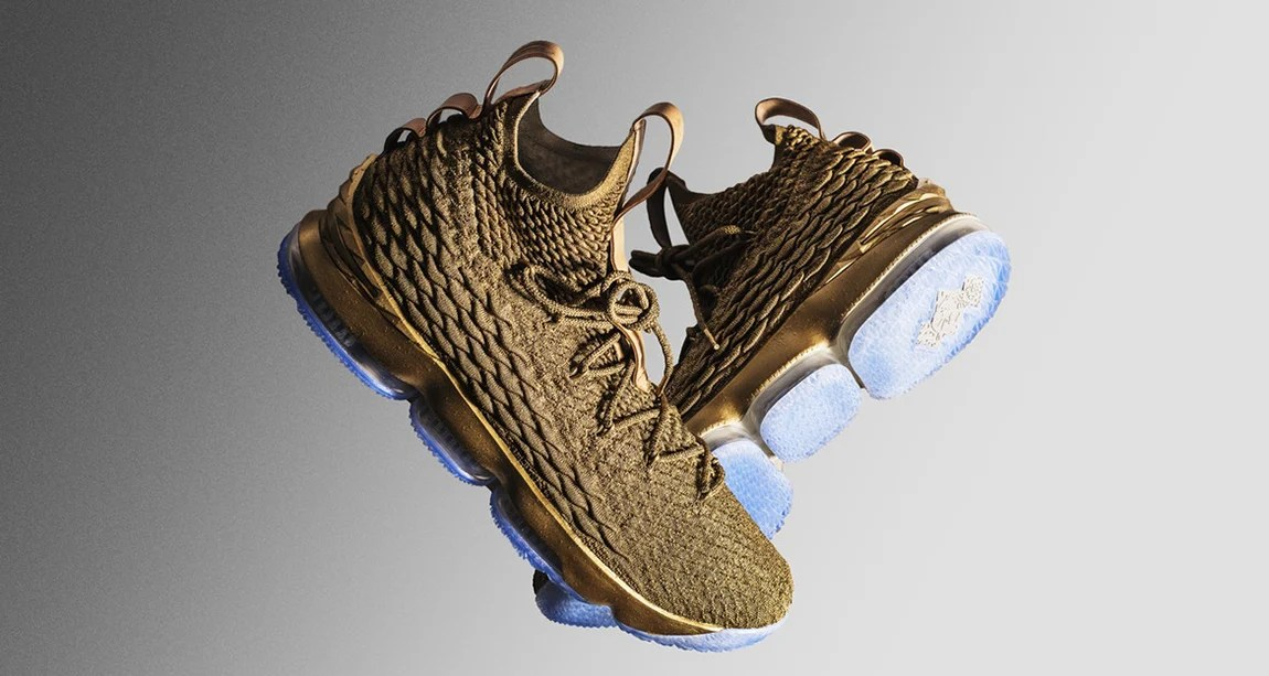 6ee322343370d ... where to buy lebron james debuts gold nike lebron 15 custom from the  shoe surgeon 5bd4b